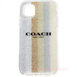 Coach iPHONE 11 Protective Case - Glitter Americana Neutral Silver
