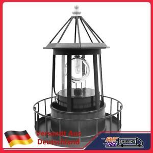 Solar LED Leuchtturm Licht Garten Hof Rasen Lampe Beleuchtung Lampe Dekor Black