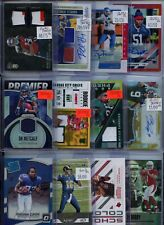 HUGE PREMIUM PATCH AUTO JERSEY PRIZM NFL FOOTBALL ROOKIE CARD COLLECTION LOT $$