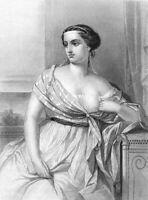 GREEK POEM Odyssey Pretty Cute Girl Woman PENELOPE ~ 1881 Art Print Engraving