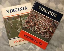 1972, 1973 University of Virginia UVa ACC Football Media Guides