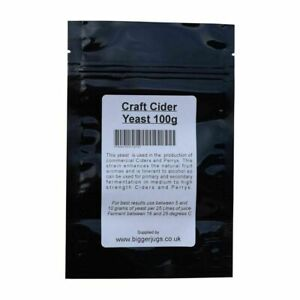 Craft Cider Yeast 100g Pouch For Rapid Fermentation of Homebrew Ciders & Perrys