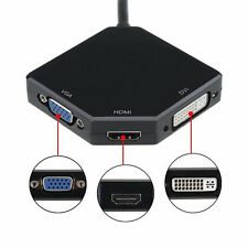 3 in 1 Display Port DP Male to HDMI DVI VGA Female Video Kable  HDTV Konvert