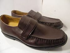 e1568bdfd49 HABAND EXECUTIVE DIVISION BROWN LEATHER LOAFERS Slip On Mens Size 12 EEE
