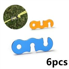 New listing 3 Colors Lock 42*15*2.2mm Alloy Awning Lock Camping Tighten Cord Tensioners