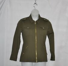 Belle by Kim Gravel Military Jacket Size 1X Olive
