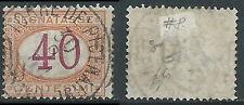 1870-74 REGNO SEGNATASSE USATO 40 CENT FIRMATO DIENA - R44-10
