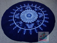 Handmade indigo Tie Dye Rural Style Tablecloth Table Cover Tapestry ROUND φ200cm
