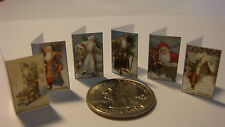 DOLLSHOUSE  Mini Fun -   Victorian Santa Christmas  Cards   - CDHM 1:12
