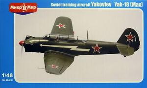 Jakowlew Jak-18 (Max), 1:48, Mikro Mir, Plastik, Ätzteile, NVA, Austria, Neu