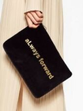 Zara Rare Genuine ALWAYS FORWARD Velvet Clutch BNWT M LAST ONE