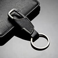 Men's Fashion Creative Metal Leather Car Keyring Keychain Key Chain Ring Keyfob