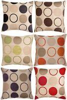 Chenille Retro Circle Spots Cushion Covers Designs Luxury Home Decor Sofa
