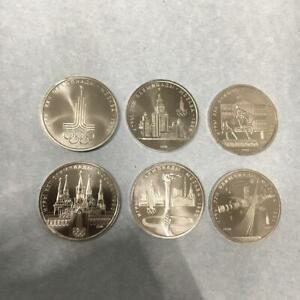 1 Rubel 6 Stück UDSSR Russland Oly. Moskau 1980 Satz CN bfr.