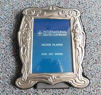 "Vintage Art Nouveau International Silver Company Photo Frame 5"" x 7"" Silverplate"