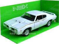 PONTIAC GTO 1969 1/24 Die Cast Model Car Models Cars Metal Miniature White