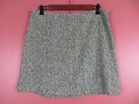 SK12513- J. CREW Womens 22% Wool Textured Mini Skirt Multi-Color Herringbone 10