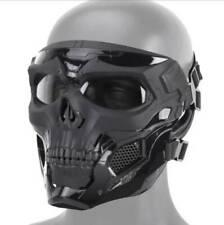 Black Tactical Mask Full Face Protective Breathable Skeleton Masks For Adults
