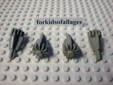 Lego Lot: 4 Jet Engine Turbines/Technic Mindstorms NXT Cone Gears Old Light Gray