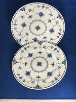 "2 Johnson Brothers Blue Denmark 7 7/8"" Salad Plates"