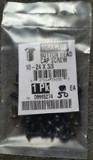10-24 x 3/8 TORX+ BUTTON HEAD CAP SCREW, Alloy Steel Blk Oxide USA Made, pkg 50
