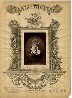 Lemercier, Paris Theatre, Jeanne Samary vintage print Photoglyptie  9x13