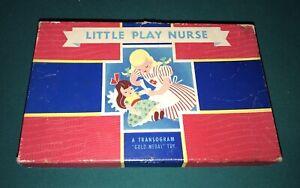 VINTAGE LITTLE PLAY NURSE SET A TRANSOGRAM GOLD MEDAL TOY 1949 SET