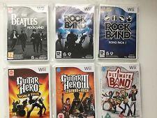 Wii GAMES Guitar Hero WORLD TOUR  LEGENDS OF ROCK III  BEATLES  ROCK BAND Bundle