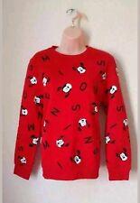 Primark Womens Disney Red Minnie Mouse Sweatshirt Jumper Ladies Size XL 18/20