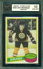 1980 81 OPC #140 RAY BOURQUE ROOKIE CARD KSA 10 GEM MINT