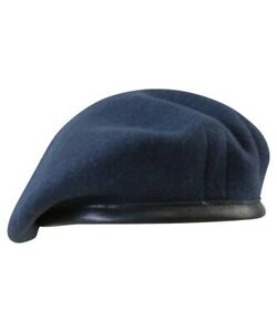 BRITISH ARMY STYLE BERET in NAVY BLUE sizes 57 - 60cm 100% WOOL