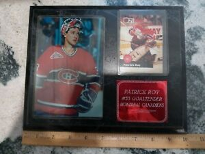 PATRICK ROY Montreal Canadians WALL PLAQUE