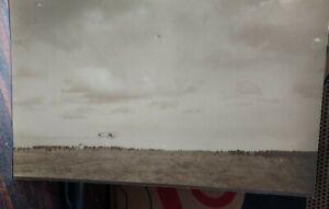 Ca. 1912 Real Photo Postcard Salt Lake Aviation Meet / Airship, Crowd