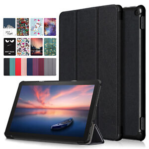 For Amazon Kindle Fire 10.1 HD 10 2021 11th Gen Cute Smart Leather Case Cover
