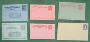 CHILE STAMP COVERS SELECTION OF 6 POSTAL STATIONARY COVERS UNUSED  (K24)