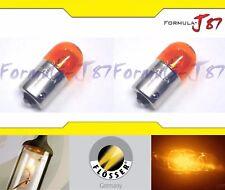 Flosser BA15s G18 Orange Amber 10W 1402507 Two Bulbs Turn Signal Parking Marker