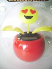 Solar Powered  EMOJI DANCING SOLAR Flower Flip Flap  Plant - Red Pot