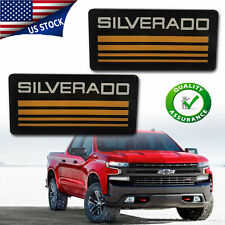 2x For Silverado Cab Emblem Badge Side Roof Pillar Decal Plate For Tahoe Yellow