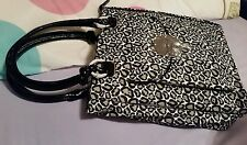 Mimco LUCID LARGE TURNLOCK TOTE ZIPTOP Hand Bag BNWT BLACK WHITE 37 x 35 x10 CM