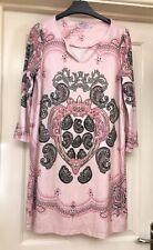 Marilyn & John Paris Soft Pink Boho Tunic Dress, Size L 14-16 - Lovely!