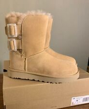 UGG BAILEY FASHION BUCKLE BRONZER SUEDE WOMEN'S BOOTS SIZE 6 1107958 BRAND NEW