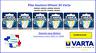 Button cell 3V lithium Varta blister, free shipping worldwide