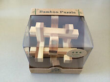 CROSS IN PRISON BAMBOO PUZZLE BRAIN TEASER MENTAL NOVELTY TRICK MAGIC TOY GAME