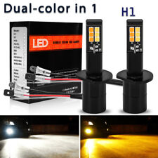 2x H1 100W LED 20-SMD Projector Fog Driving DRL Light Bulb 6000K White 12-24V