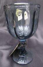 New Old Stock Fenton Glass All American Legacy Smoke Blue Goblet Still w Tags