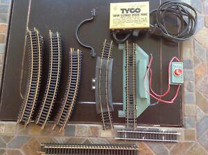 Tyco HO Scale Prestomatic, Transformer, track, rerailer, curve, straight  EUC