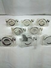 New listing Cute Fancy Napkin Ring Holders 8 Piece Dinner Plate with Utensils Design
