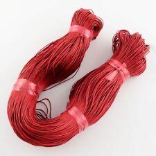 Rojo Cordón De Algodón Encerado 10 M x 1 mm Shamballa Macramé fabricación de joyas