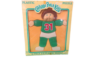 1983 Cabbage Patch Kids 11 Piece 3D Plastic Puzzle In Original Box Ages 2-6