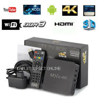 NEW MXQ Pro 4K 3D 64Bit Android 7.1 Quad Core Smart TV Box KODI 18 Streamer